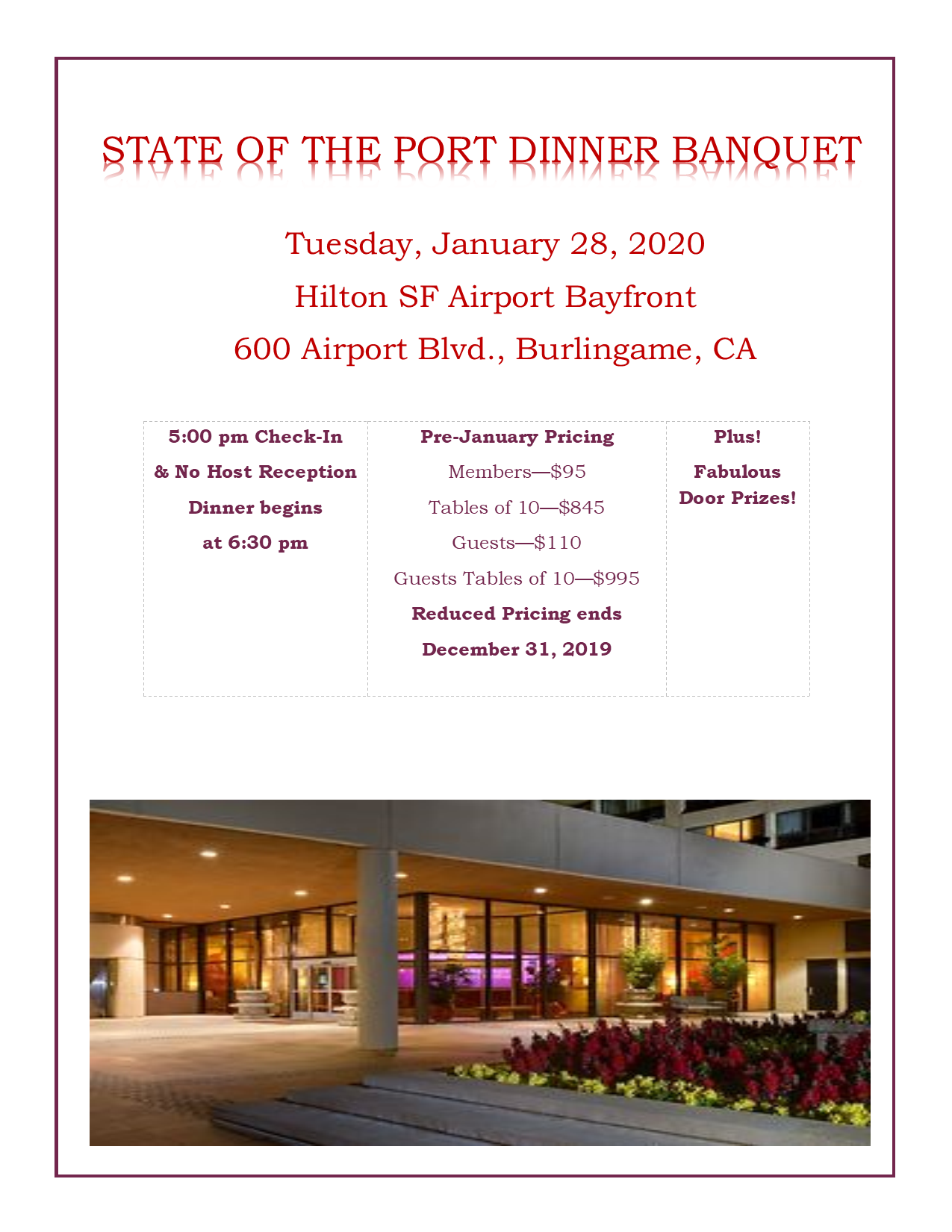 State of the Port Dinner Banquet