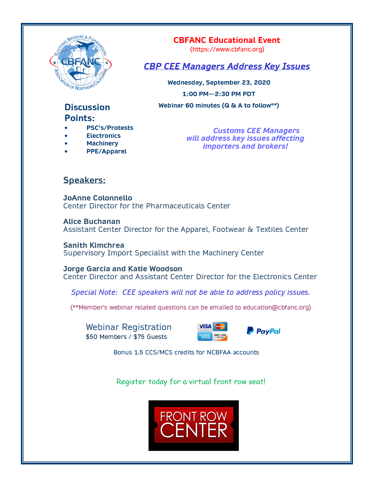 CBP CEE Managers Address Key Issues